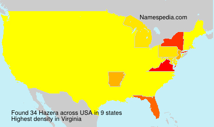 Surname Hazera in USA