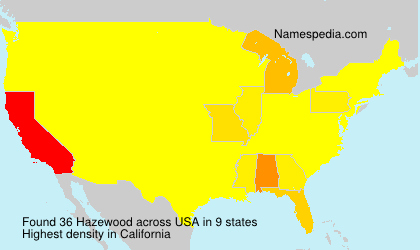 Surname Hazewood in USA