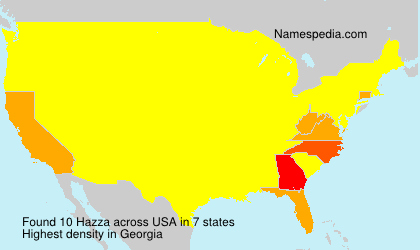 Surname Hazza in USA