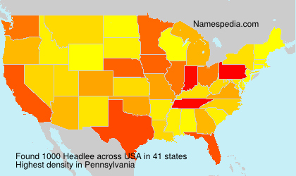 Surname Headlee in USA