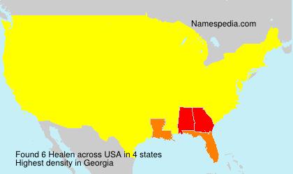 Surname Healen in USA