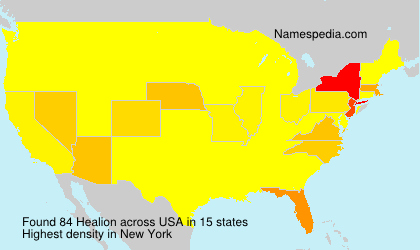 Surname Healion in USA