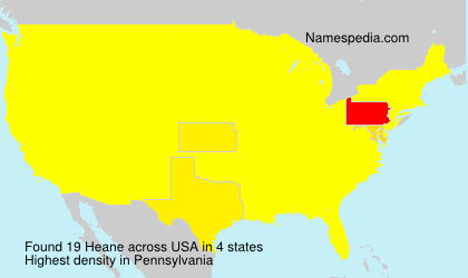 Surname Heane in USA