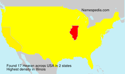 Surname Hearan in USA