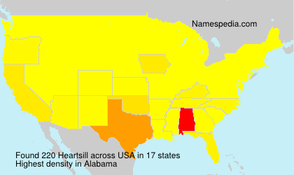 Surname Heartsill in USA