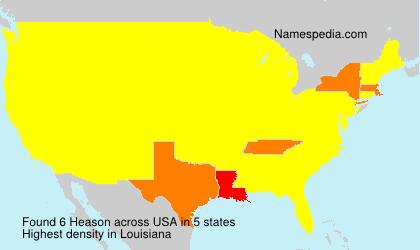 Surname Heason in USA