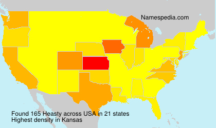 Surname Heasty in USA