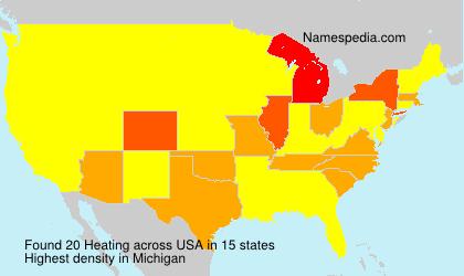 Familiennamen Heating - USA
