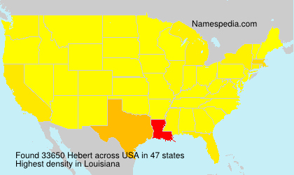 Surname Hebert in USA