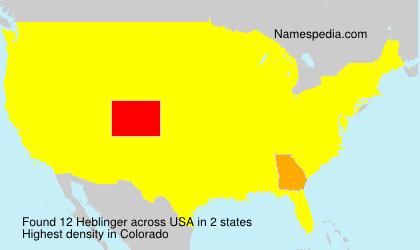 Familiennamen Heblinger - USA