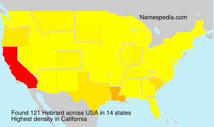 Surname Hebrard in USA