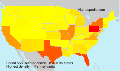 Surname Hechler in USA