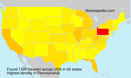 Surname Heckert in USA