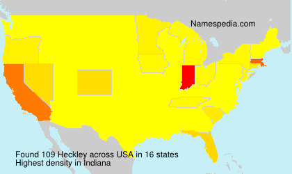 Surname Heckley in USA
