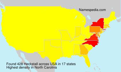 Familiennamen Heckstall - USA