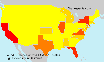 Surname Hedda in USA