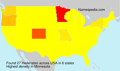 Surname Hedensten in USA