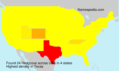 Surname Hedgcoxe in USA
