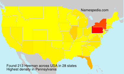 Surname Heeman in USA