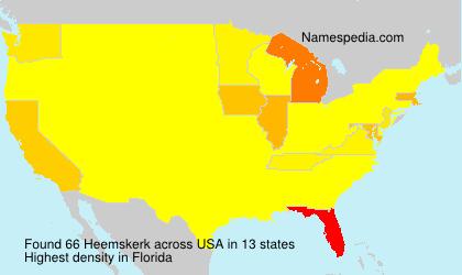 Familiennamen Heemskerk - USA