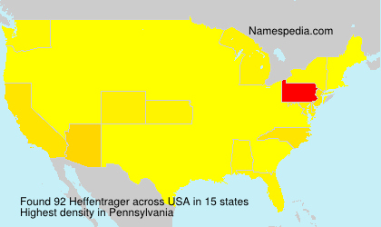 Surname Heffentrager in USA