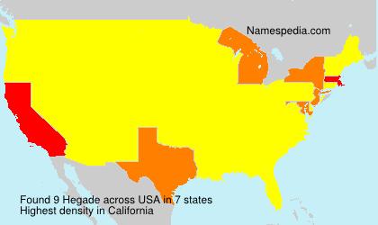 Surname Hegade in USA