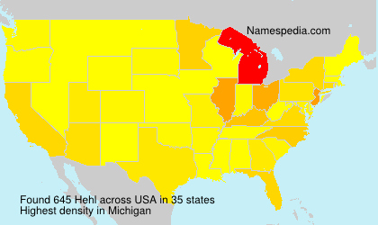 Surname Hehl in USA