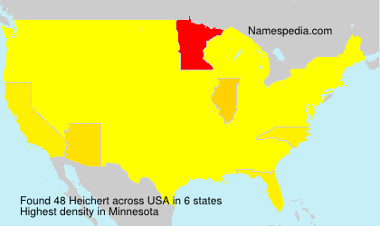 Surname Heichert in USA
