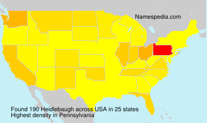 Surname Heidlebaugh in USA