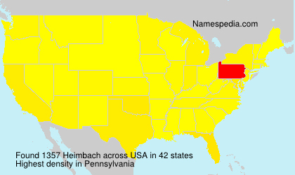 Surname Heimbach in USA