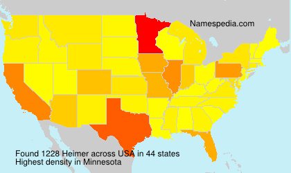 Surname Heimer in USA