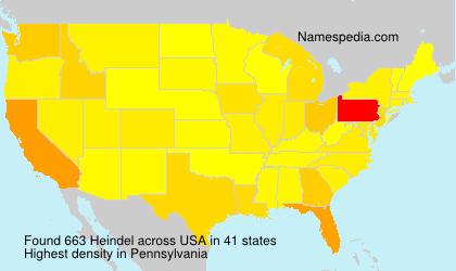 Familiennamen Heindel - USA