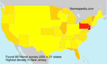 Surname Heinel in USA
