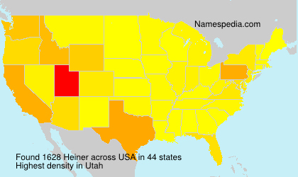 Surname Heiner in USA