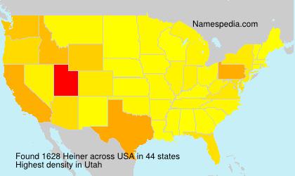 Surname Heiner in USA