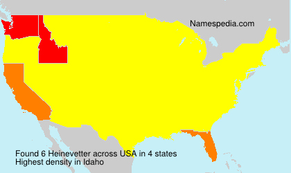 Surname Heinevetter in USA