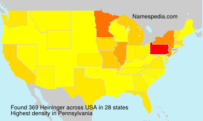 Surname Heininger in USA