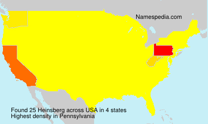 Surname Heinsberg in USA