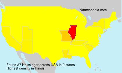 Surname Heissinger in USA