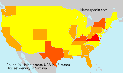 Surname Helan in USA