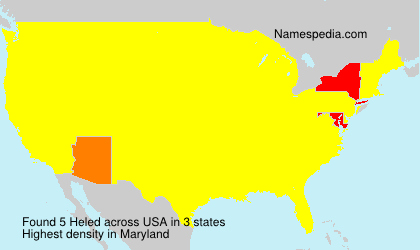 Surname Heled in USA