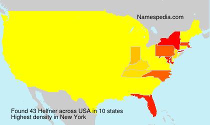 Surname Helfner in USA