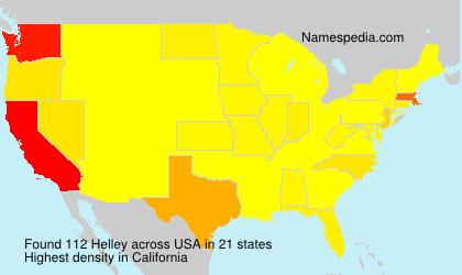 Surname Helley in USA