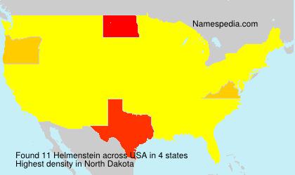 Surname Helmenstein in USA