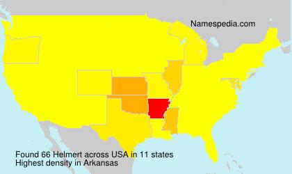Surname Helmert in USA