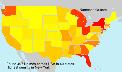 Surname Helmes in USA