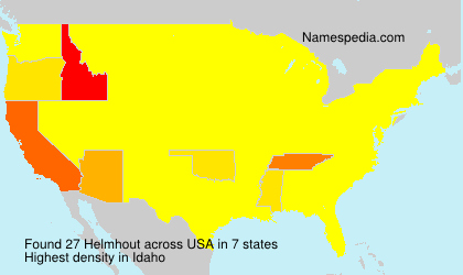 Surname Helmhout in USA