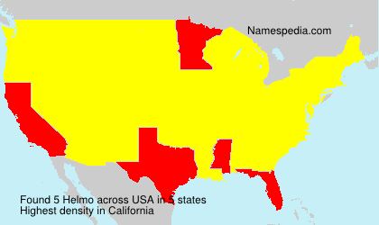 Surname Helmo in USA