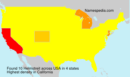 Surname Helmstreit in USA