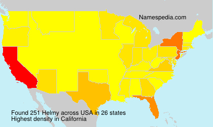 Surname Helmy in USA